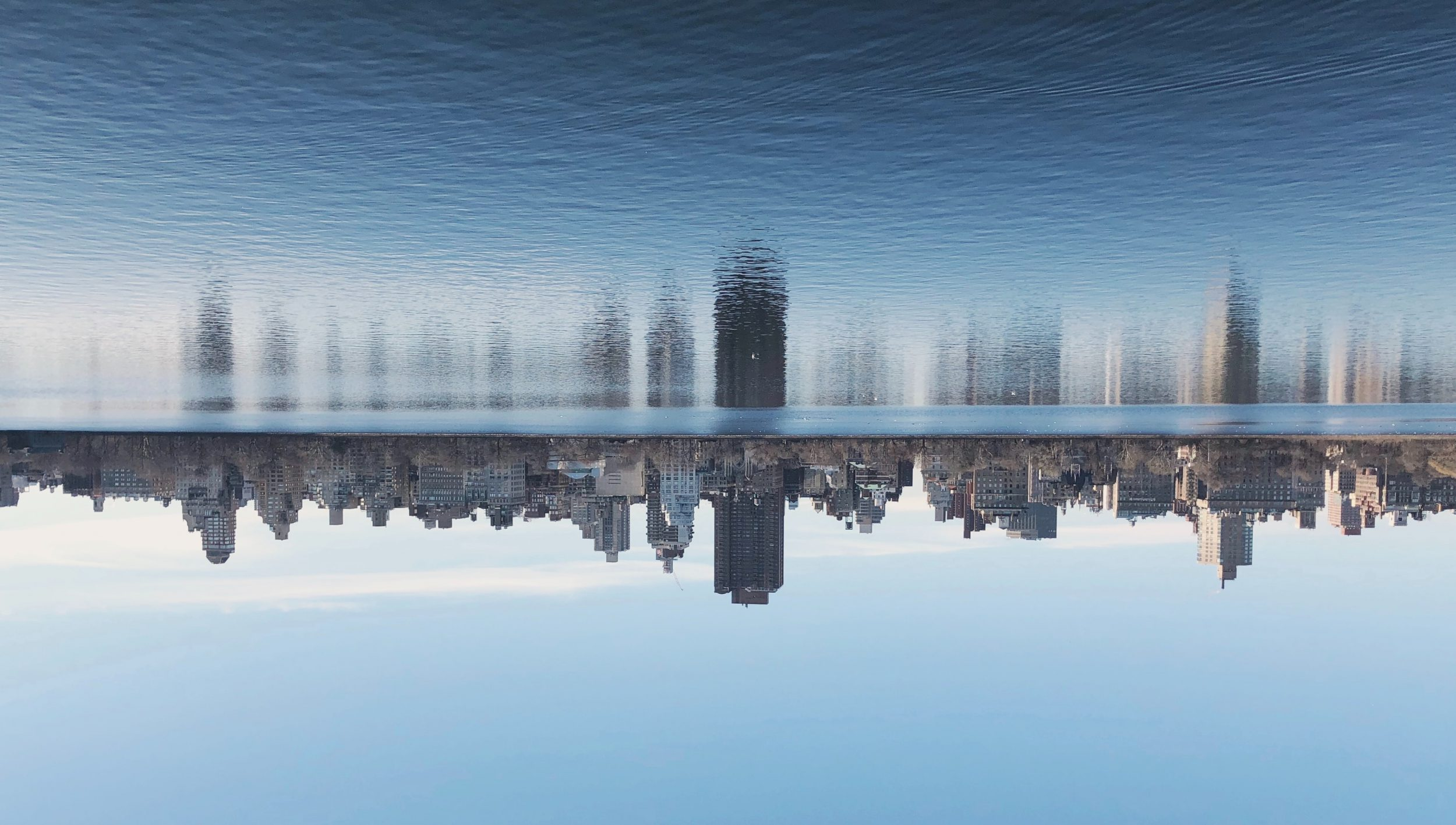 A city turned upside-down